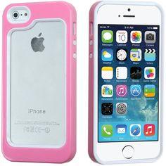 MYBAT Neo Hybrid Bumper iPhone 5/5S/SE Case - White/Pink