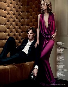 Oh No They Didn't! - Benedict Cumberbatch in the December 2010 issue of Marie Claire UK