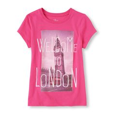 Short Sleeve 'Welcome To London' Photo-Real Graphic Tee