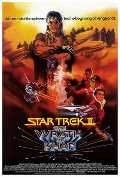 Star Trek II: The Wrath Of Khan movie poster. Version 2
