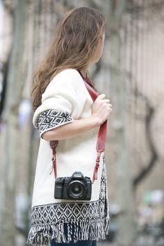 Correa en cuero para fotógrafos