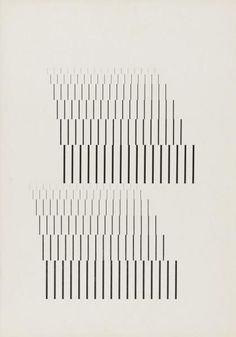 Wolfgang Weingart, Line research series 2 of 5, 1964