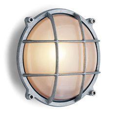 Webshop de jaren 30 fabriek / Wandlamp aluminium rond