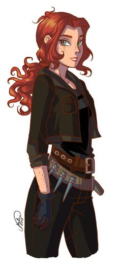 I feel like this could be Scarlet (Lunar Chronicles) or Clary (Mortal Instruments)
