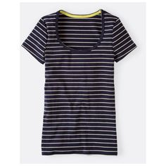 Boden Essential Short Sleeve Tee (18 AUD) ❤ liked on Polyvore featuring tops, t-shirts, stripe t shirt, striped t shirt, short sleeve tee, striped top and boden