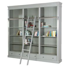Fayence Bookcase with Ladder £1,125.00    http://www.homeinteriorsbyhunters.co.uk/fayence-bookcase-with-ladder/