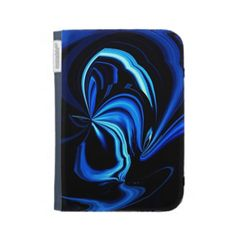 Abstract Blue Butterfly Kindle Folio Case