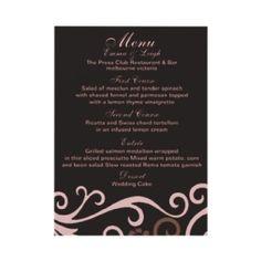 Wedding Rehearsal Dinner Menu Template  Google Search  Reception