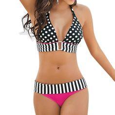 930445bf9b Donne costumi da bagno costume da bagno sexy perizoma bikini set di  striping fringe di balneazione