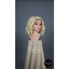Platinum Blonde Wig Long Bob Wavy Lace Front Wig Cosplay Costume Anime... ($70) ❤ liked on Polyvore featuring bath & beauty, grey, hair care and wigs