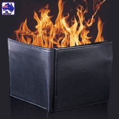 New Magic Trick Flame Wallet Leather Magician Close-up Stage Street Props