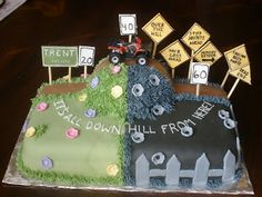 Over the Hill Birthday Cakes Over The Hill 40th Birthday Cake