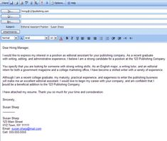Cover Letter Email Format Formatting Tips For Email Cover Letters  Cover Letter Example And .
