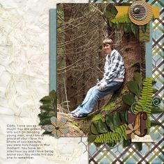 """Kit - """"He's My Hero"""" by Siamese Studio http://shop.scrapmatters.com/product.php?productid=10585=0=1  Fern by Siamese Studio.  Leaves by Shanmomto4.  Template - """"Gimme Layer Vol.25"""" by Clusterqueencreations http://shop.scrapmatters.com/product.php?productid=11079=21  Font - Century Gothic."""