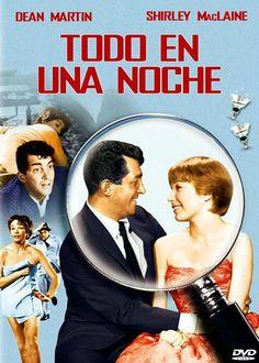 Todo en una noche (1961) Comedia  Durante unas vacaciones en Palm Beach, Katie Robbins, salva de morir ahogado a un borracho millonario, que de inmediato le hace proposiciones amorosas. Huyendo de él, se refugia en la habitación de un hotel donde encuentra un hombre en la cama, que está muerto.