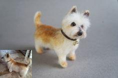 Needle Felted Dog Cairn Terrier, Norwich Terrier, Norfolk or Imaal Terrier, Wool…
