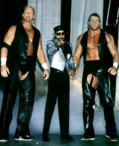 The Skyscrapers Danny Spivey and Sid Vicious with manager Teddy Long. Nwa Wrestling, Wrestling Posters, World Championship Wrestling, Wrestling Superstars, Wrestling Divas, Wwe Tna, Sport Of Kings, Wwe Wallpapers, Professional Wrestling