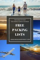 FREE Packing Lists - Download NOW Embrace Today - Family Vacation