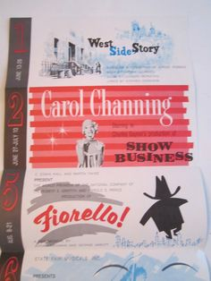State Fair of Texas Musical Brochure West Side Story Carol Channing Show Business 1960