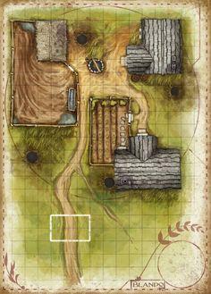 Plan d'un hameau ? d'une ferme ? Habitants reclus ?