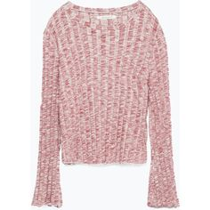 Zara Ribbed Sweater (€9,17) ❤ liked on Polyvore featuring tops, sweaters, maroon, ribbed sweater, zara top, maroon sweater, maroon top and zara sweaters
