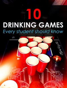 List of cool drinking games for college