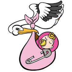 Stork & Baby Clipart - Free Graphics of Storks Delivering Babies ...