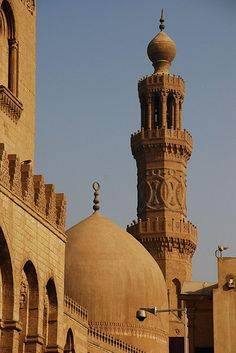 Dome and Minaret of Barquq Mosque   Cairo  Egypt