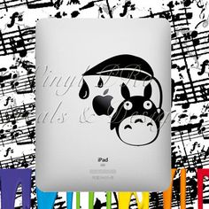 Friend Totoro Ipad Decal- For Ipad- (choose color from color wheel)