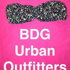 BDG Urban Outfitters rose pattern bandeau Mesh inside. Floral pattern. Great for underneath low cut shirts Urban Outfitters Intimates & Sleepwear Bandeaus