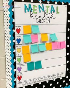 Erin Castillo, an educator at John F. Kennedy High School in Freemont, California, created a mental health check-in chart for her students. education Clever teacher's mental health check-in chart inspires educators to create their own Middle School Classroom, Classroom Community, Classroom Design, Future Classroom, Classroom Ideas, Classroom Decoration Ideas, Kindergarten Classroom Decor, Classroom Bulletin Boards, First Grade Classroom