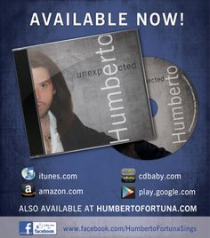 Well…. After so much work, time and energy it feels GREAT have the CD in my hands!…. Unexpected Album is available for Buy or Download at www.humbertofortuna.com, iTunes, Amazon.com!