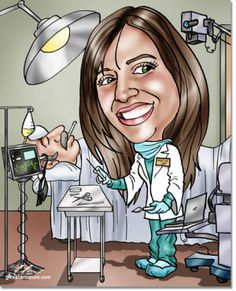 Doctor Caricature for medical resident.  #doctorgifts