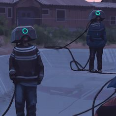 Sci-fi painter Simon Stålenhag's latest series 'The Electric State' depicts a post-apocalyptic migration to California.