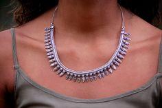 Necklace, Metal Necklace, Banjara Necklace, Tribal Necklace, Indian Style Necklace, Banjara Payal Metal Necklace, Indian Design Necklace by LaMirraFashion on Etsy