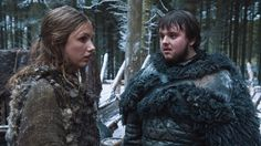 Game of Thrones (series 2011 - ) Starring: Hannah Murray as Gilly and John Bradley as Samwell Tarly. (click thru for high res)