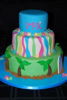Luau Cake by Sweet Art Shop {Gaby}, via Flickr