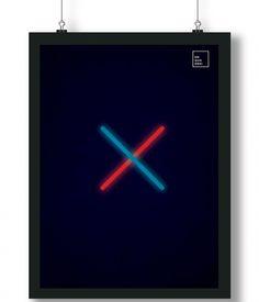 Pôster/Quadro minimalista Star Wars