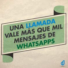 Llamada vs whatsapp