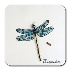MAGNET LIBELLULE TRANSPARENTE BLEU -DEMOISELLE - Boutique www.magicreation.fr