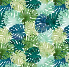Watercolor Monstera Fabric - Tropical Watercolour By Amandacallcott - Tropical Botanical Decor Cotton Fabric By The Yard With Spoonflower by Spoonflower on Etsy https://www.etsy.com/listing/529634797/watercolor-monstera-fabric-tropical