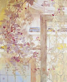 Japanese Painting, Japanese Art, Illustrations And Posters, Asian Art, Art Drawings, Scenery, Illustration Art, Retro, Floral