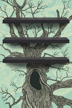 Old tree icon shelf