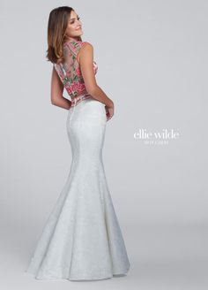 9a993a1855d Ellie Wilde for Mon Cheri EW117030 is a sleeveless two-piece Ellie Wilde  prom gown