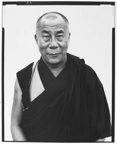 His Holiness The Dalai Lama in Kamataka, India. Photo: Richard Avedon, January 1998.