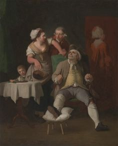 """The Profligate Punished by Neglect"", Edward Penny, 1774; Yale Center for British Art, Paul Mellon Collection, B1981.25.500"