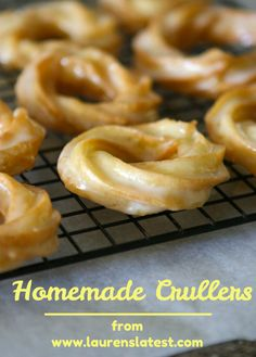 Homemade Crullers  - my oh my!! Love these at Krispy Kreme - when I can find a store that still makes them - hoping they are close to the same experience.