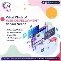 What Kinds of WEB DEVELOPMENT do you Need? A Business website A CRM Software School ERP HR Management software or something else? Call ☎️ at : +91-9015-799-394 For more information about service visit our site right now- . . #software #softwaredevelopment #softwaredesign #development #technology #developer #customsoftware #webdesign #websitedevelopment #startup #website #schoolsoftware #erpsoftware #hrmsoftware #ecommerce #businessapp #business #itcompany #branding Hr Management, Business Website, Software Development, Ecommerce, Web Design, Branding, App, Technology, School