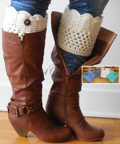 Crochet Boot Cuffs with buttons , crochet Boot Toppers, short leg warmers, crochet faux leg warmers, ♥ BUY 2 Fashionable Boot Socks or leg warmers or Boot Cuffs for ONLY $16 or less ♥