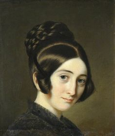 Portrait of a Young Lady, c. 1845 by David Monies found at Christ's College, University of Cambridge